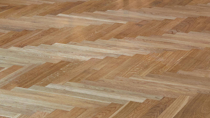 Rénovation parquet chevron par Wood Floor Partners